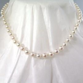 Perles Akoya – Collier ras de cou en chute Lola 287