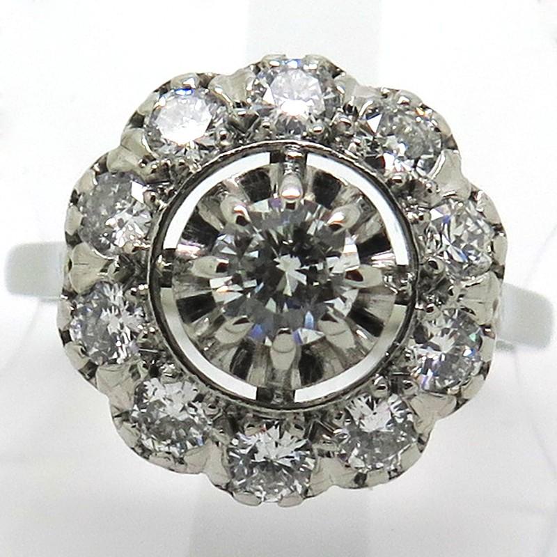 Fabuleux Bague Ancienne, Diamant : Platine, Marquise, Marguerite GB84