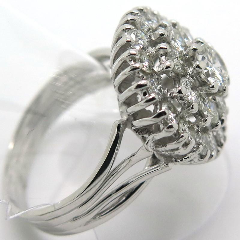 la réputation d'abord prix spécial pour classique chic Bague marguerite diamants or blanc vintage d'occasion ...