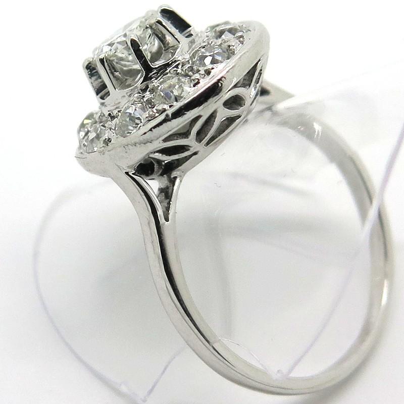 Platine Ou Or Blanc : Bague de fian?ailles art d?co diamants platine or blanc