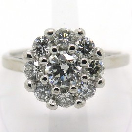 Bague de fiançailles diamants monture or blanc – Ligne Elégance 1850