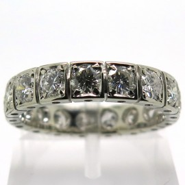 Alliance diamants monture or blanc vintage – Tuileries 1883