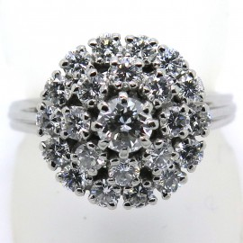 Bague diamants vintage - Vincennes 1885