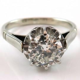 Solitaire diamant monture ancienne 1239