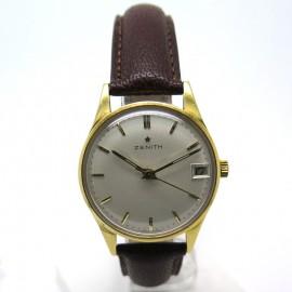 Montre Zénith automatique or jaune vintage 136