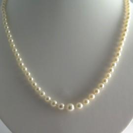 Collier de perles blanches Akoya longchamp 305