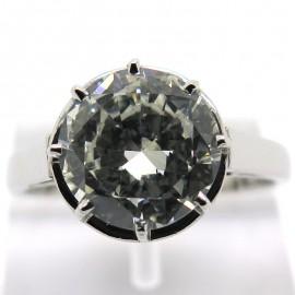 Diamant 1,98 carat sur monture solitaire en platine et or blanc Notre-Dame 1732